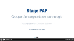 Stage PAF enseignants techno